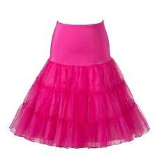 50er Jahre Vintage Rockabily Net Petticoat Rock 26', rosa, große/XL (16-22)