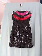 Chica Boutique  Black sequin dress  size 8 BNWT