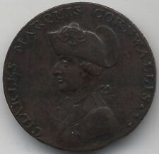 1794 Charles Marquis Of Cornwall Penny Token***Clipped Planchet***Collectors***