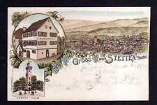 114043 AK Stetten i. Remsthal  Litho 1899 Aussichtsturm Kernen Haus R. Kaufmann