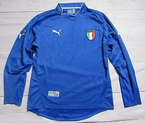 ITALIA ITALY home LONG SLEEVE shirt jersey PUMA 2003-2004 Azzurri Adult SIZE L