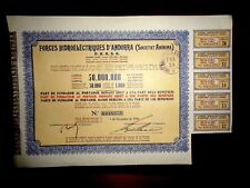 Forces Hidroeléctriques d´Andorra FHASA share certificate Andorra