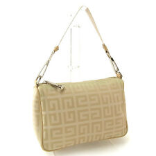 Givenchy Handbag Beige Silver Woman Authentic Used Y3129
