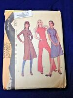 Vintage Uncut Sewing Pattern McCalls #2951 1970's Patterns Tunic Dress