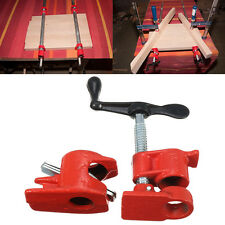 1/2'' Heavy Duty Pipe Clamp Set Kit for Wood Gluing Quick Release Woodworking