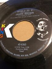 JAMES BROWN -  I CRIED / WORLD PART 2   - US   KING 45-6363   EX