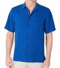 Tommy Bahama Mens Shirt Monaco Blue Size 2XL Button Down Silk Tropics $99 #095