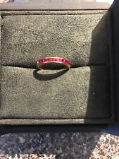 TIFFANY & Co. 18K Gold Ring With Ruby Half Eternity 6.5 Very Rare 🔥