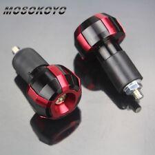 Red For 22mm Bar End Plugs Grips Sliders Honda CBR 1000F 1000RR 900RR 600F4/F4i