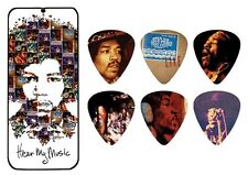 Jimi Hendrix Guitar Picks Collectible Hear My Music with Picks Dunlop