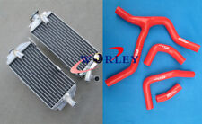 FOR Honda CRF450R CRF450 CRF 450R 2013 2014 aluminum radiator& red Silicone hose