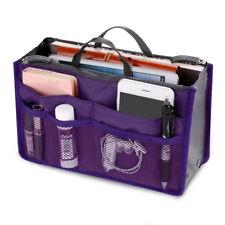 Travel Insert Organizer Handbag Purse Large Liner Women Makeup Lady Bag Make up Purple
