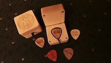 NEW RUSH COLLECTIBLE R40 TOUR 2015 SET OF 4 WOODEN PICKS IN WOOD CASE