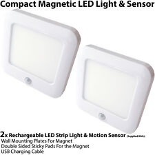 2x Rechargeable Magnetic LED Light & Motion Sensor – Cupboard/Cabinet Mini Spot