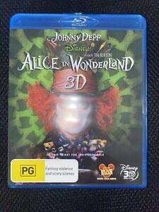 Alice In Wonderland 3D Disney Blu-ray Free Shipping Aus Wide DVD Boy-ray