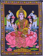 """Indian Lord Laxmi Tapestry Throw Decor Bedcover Hippie God Wall Hanging 40*28"""""""