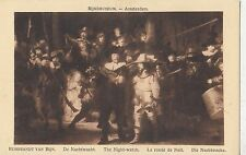BF18003 rembrand van rijn the night watch painting  art  front/back image