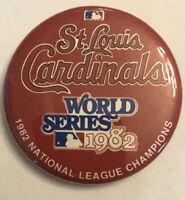 St Louis Cardinals World Series 1982 Pin National League Champions