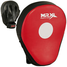MRX MMA Boxing Kick Punch Pads Focus Training Mitts Hook & Jabs Curved 1 Piece