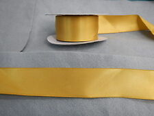 Wired Edged Gold Satin  Ribbon 38mm x10mts