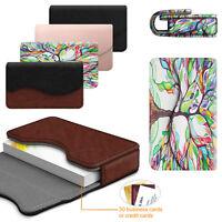 Premium PU Leather Business ID Card Holder / Credit Card Wallet Case Organizer