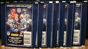 2021 PANINI NFL STICKERS 10 PACKS WITH 5 STICKERS PER PACK NEW 🏈