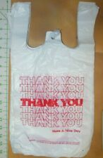 """Lot of 100 16""""x8"""" (bag size 10""""x8"""")t shirt carry-out bags merchandise bags"""