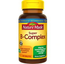 Nature Made Super Vitamin B Complex With Vitamin C 60 Tablets Metabolic Support