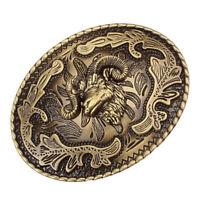 Zinc Alloy Western Belt Buckle Goat Head Shape Cowboy Classic Novelty Casual