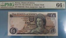 1976 -88 Jersey £1 PMG66 EPQ <P-11b> Sign. No 3