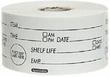 Prepped Food Label Roll of 500 In Dispenser Box Black Shelf Life Day Dot Labels