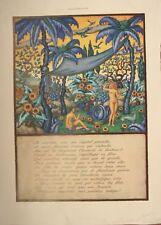 PLANCHE COULEUR ILLUSTRATION 1927 D' APRES GEORGES BAUDIN ILES MERVEILLEUSES