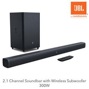 JBL Bar 2.1 Deep Bass 2.1 Channel Soundbar with Wireless Subwoofer 300W