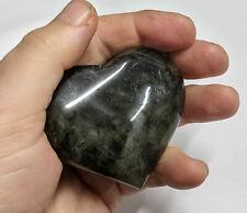180 Gram LABRADORITE  carved Gemstone HEART (#U265)