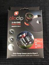 Olloclip Ollo Clip iPhone 5/5S Camera Lens 3-IN-ONE Black/Red...NEW