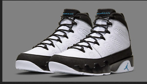 "Nike Mens Air Jordan 9 Retro ""University Blue""  CT8019-140 NEW 100%AUTHENTIC!!"