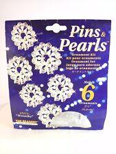 NEW Beadery Pins & Pearls WREATHS Christmas Ornaments Bead Kit #5213