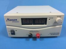 MANSON SPS-9250 Switch Mode Power Supply 15V 25A with Digital Display / UK Plug