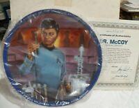 1983 USS Enterprise Star Trek Dr. McCoy Medical Officer Collector Plate COA IOB