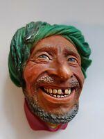 Bossons KURD Head Figure Chalkware Wall Hanging England