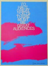 Corita Kent print: 1966-To Have Great Poets There Must Be Great Audiences