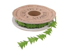 Sass & Belle Green Coloured Christmas Tree Shaped Ribbon Reel - 1cm x 3 Metres
