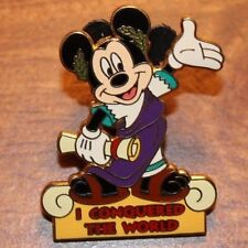 Disney WDW  Pin I Conquered The World Pursuit 2002 Mickey Scroll
