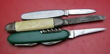 3x alte Messer, Taschenmesser SOLINGEN, pocket knife, couteau, navaja