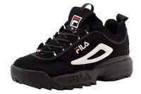 Fila Disruptor II Black/White/Red Men's Shoes FW01653-018 ORIGINAL /AUTHENTIC