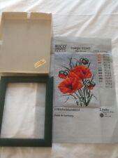 PAPAVERI ancora DELLA VITA Tapestry Rico Design 22242 con originale cornice verde e box