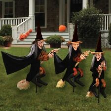 Halloween Group of Spooky Witch Lawn Props Yard Decoration Outdoor Scary NEW