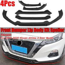 For Nissan Altima Sedan 2019 2020 Matte Black 4pcs Front Bumper Lip
