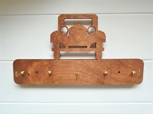 Wooden Car Key Holder- vintage car birthday fathers day new home gift keys tidy