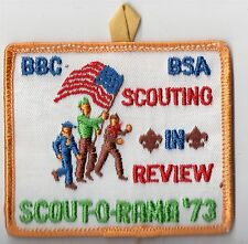 """Activity Patch BBC BSA Scout-O-Rama """"Scouting in Reveiw"""" w loop 700076"""